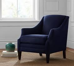 Armchair Upholstered Hattie Upholstered Armchair Pottery Barn