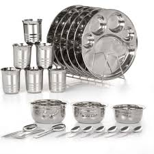 buy 24 pcs stainless steel dinner set at best price in