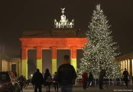 The Germany Flag The Brandenburg Gate Is Illuminated In The Colors Of The German