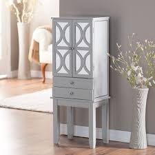 Kirklands Jewelry Armoire Furniture White Over The Door Jewelry Armoire With 5 Drawers And