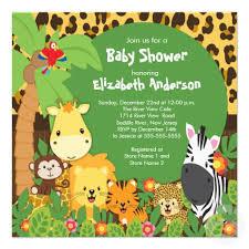 jungle baby shower jungle theme baby shower invitations interesting ideas baby