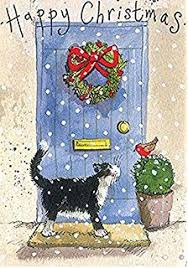 alex clark charity christmas cards jingle bells cat pack of 5