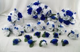 wedding flowers royal blue silk wedding flowers cascade bridal bouquets royal blue