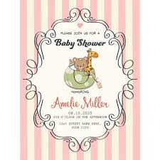 for baby shower pretty frame on lines for baby shower vector free