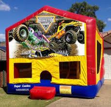 monster trucks small banner castle jumping castle hire brisbane