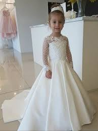 flower girl dresses buy a line neck white flower girl dress with lace appliques