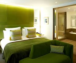 interior executive fresh hotel bedroom integrated with bathroom