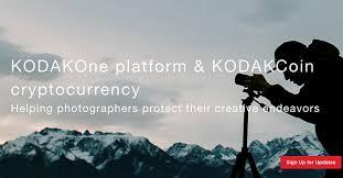 kodak launches kodakcoin u0027photo centric cryptocurrency u0027 and