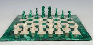 Nice Chess Sets by Midcentury Malachite And Marble Chess Set Game Board And Pieces At