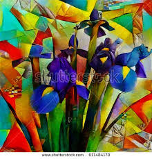cubism flower painting cubism painting stock images royalty free images vectors