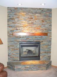 amazing stacked tile fireplace home design great modern under