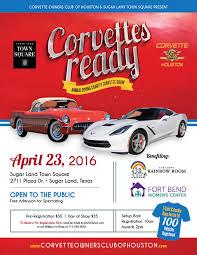 corvette of houston corvette owners of houston annual charity corvette