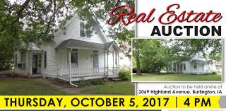 hales estate burlington iowa real estate auction sold