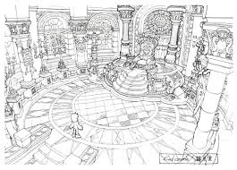 image lindblum castle throne room ff9 art jpg final fantasy