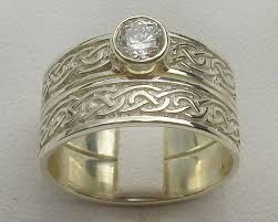 wedding ring sets uk celtic bridal set love2have in the uk