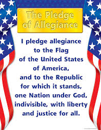 I Pledge Of Allegiance To The Flag Pledge Of Allegiance Chart Tcr7631 Teacher Created Resources