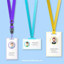 identification card template vector free download