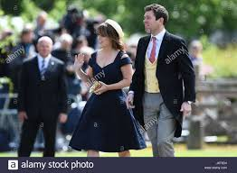 princess eugenie and and her partner jack brooksbank arrive at st