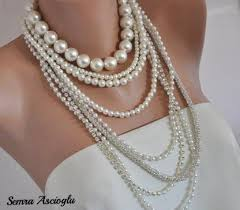 long pearls necklace images Pearl necklace multi strand weddings pearl necklace brides jpg