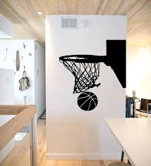 chambre basketball basketball hoop wall decal basketball wall decor by sportsvinyl
