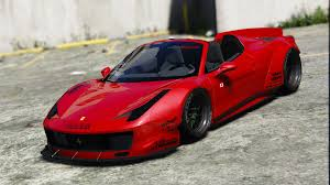 ferrari 458 liberty walk liberty walk ferrari 458 spider add on tuning livery gta5