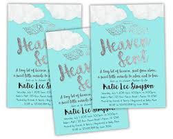 printable heaven sent baby shower invitations by partyprintexpress