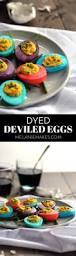 dyed deviled eggs melanie makes