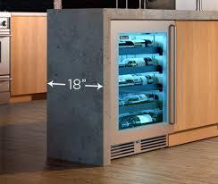 Under Cabinet Wine Fridge by Perlick Refrigerator Undercounter Refrigerator Under Counter