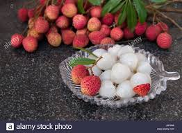 lychee fruit candy litchi fruits fresh juicy lychee fruit on a glass plate organic