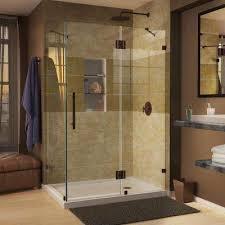 nice oil rubbed bronze shower door milwaukee semi frameless shower