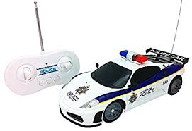 light up remote control car amazon com justice team police rc police car 1 20 scale full