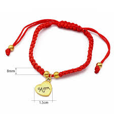 red bracelet thread images Mom red thread woven bracelet eight star jpg