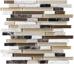 Glass And Stone Backsplash Tile by 12