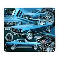 ford mustang metal wall sinal de néon personalizado 1965 azul carro lata de metal poster