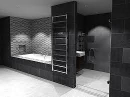 desain kamar mandi warna hitam putih kombinasi warna elegan untuk kamar mandi desain minimalis