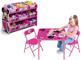 Minnie Mouse Toy Organizer Disney Minnie Mouse Kids Folding Activity Play Table And Chair Set