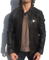 mens leather biker jacket superdry hoodie store new york superdry biker jackets cafe racer