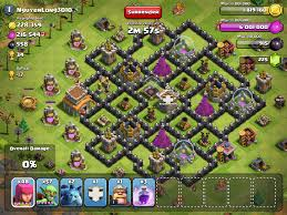 Clash Of Clans Maps Clash Of Clans Layouts For Town Hall Level Eight Th8
