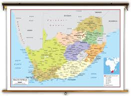Political Map Africa by South Africa Political Educational Wall Map From Academia Maps