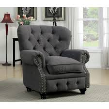 stanford single chair cal foam gray finish
