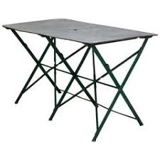 Zinc Top Bistro Table Vintage French Folding Wood And Iron Bistro Tables Circa 1920 For