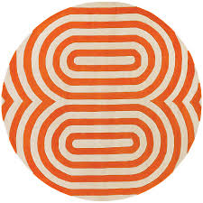 Modern Circular Rugs Chandra Geometric 8 Modern Orange Rug Collectic Home