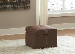 storage ottoman slipcover amazon com delaney small square storage ottoman brown kitchen