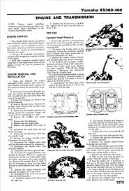 yamaha xs 400 1977 1982 service manual