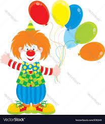 circus clown with balloons royalty free vector image