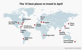 best places to visit 2018 april vacation destinations business