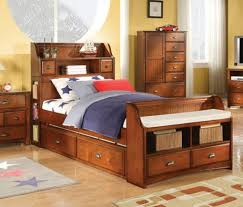 Bed With Headboard And Drawers Wonderful Twin Bed With Storage Drawers And Bookcase Headboard