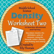 density worksheet with answers calculate density worksheet with