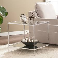 Glam Coffee Table by Knox Glam Mirrored End Table Chrome Bed U0026 Bath Shop