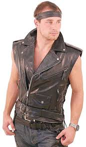 motorcycle jacket vest sleeveless leather motorcycle jacket vm30mck